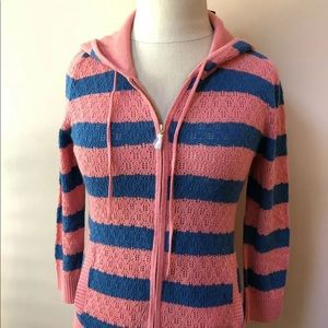 Juicy Couture Prepster Pointelle Stripe Hoodie
